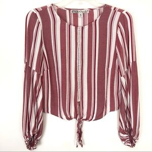 Gypsies and Moondust Striped Red and White Shirt M